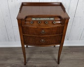 Antique Radio Console Table Empty Gutted Decorative Faux Drawers Wooden Side Accent Table Unique Victorian Decor Occasional End Furniture