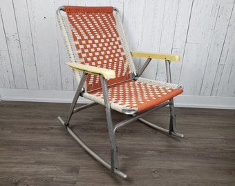 Surprising Vintage Lawn Chair Etsy Inzonedesignstudio Interior Chair Design Inzonedesignstudiocom