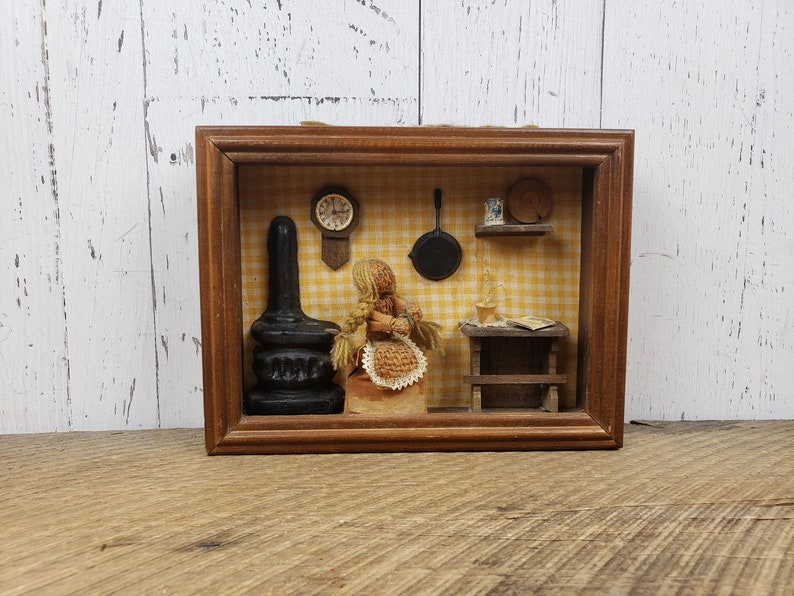 Vintage Farmhouse Kitchen Shadow Box Pioneer Woman Cooking image 0