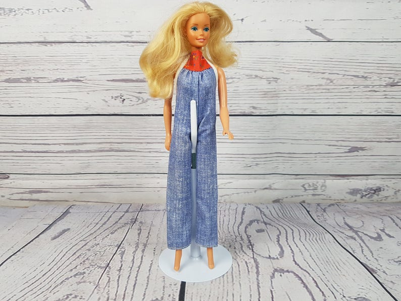 Vintage Farm Girl Barbie 1966 Philippines / Barbie Doll Wearing Jean  Overalls / Collectible Old Barbie