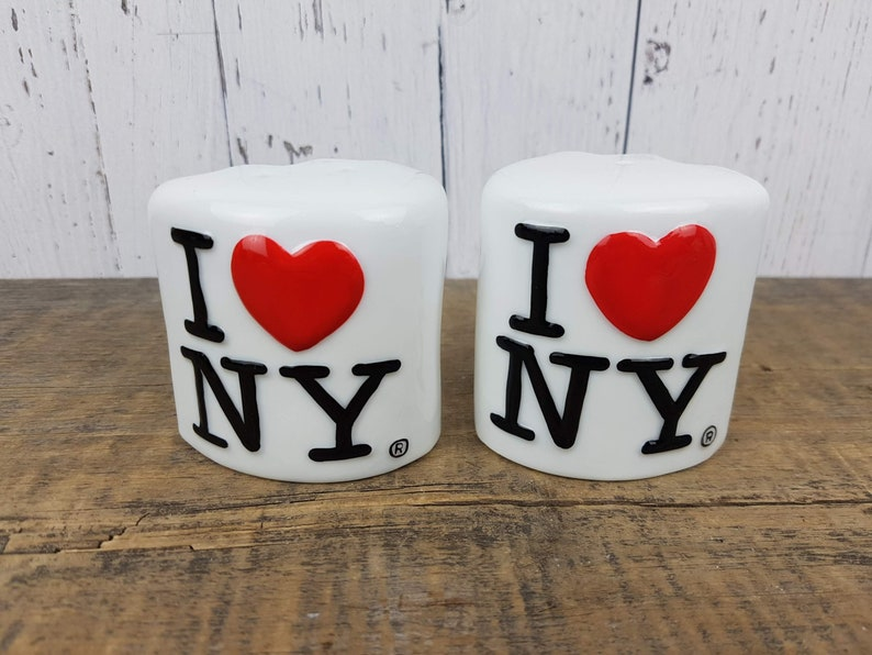Vintage Salt and Pepper Shaker Set I Love New York I Heart NY Souvenir Gift Tourism USA United States Travel Trip Vacation Holiday Tourist
