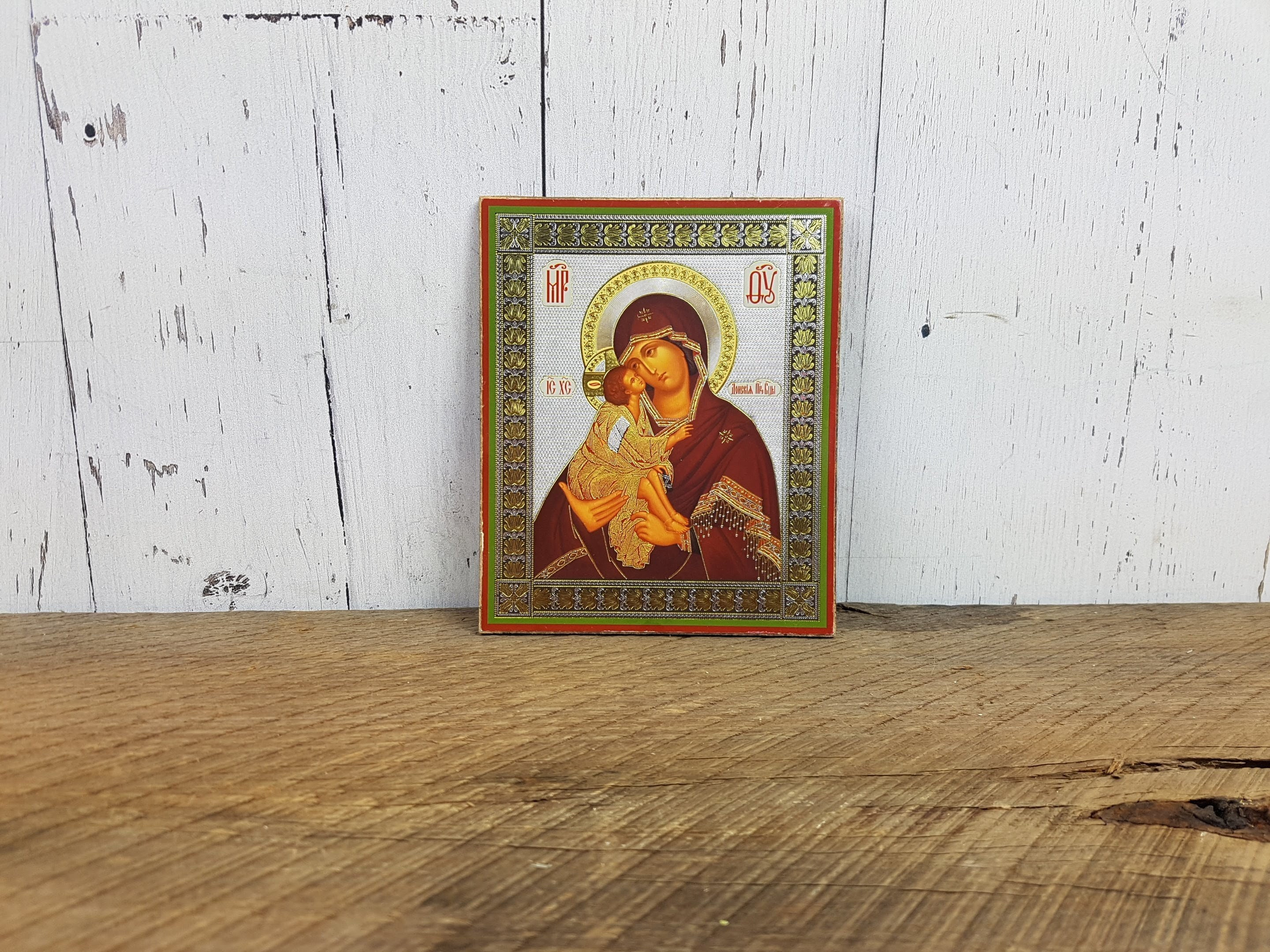 MADONNA AND CHILD MOTHER WOODEN PLAQUE CATHOLIC CANDLES STATUES PICTURES LISTED