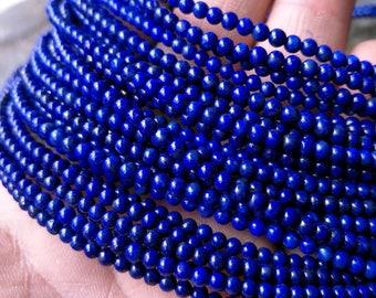 4mm-5mm AAAA Grade Lapis Beads Full Strands,Natural Lapis Stone Bead Real Natural Stone Beads Lapis Lazuli Beads