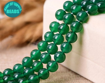 5mm-7mm Green Onyx Translucent Semi Precious Stone Beads 13 Inches Strand,Green Wheel Bead Natural Green Onyx Smooth Tire Wheel Shape Beads