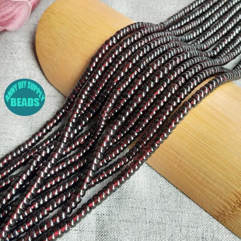 5mm Red Garnet Rondelle rhodolite beads,Wheel Beads,Spacer Beads,AAAAA Quality Garnet Spacer Beads,Full Strand 15.5inch loose beads