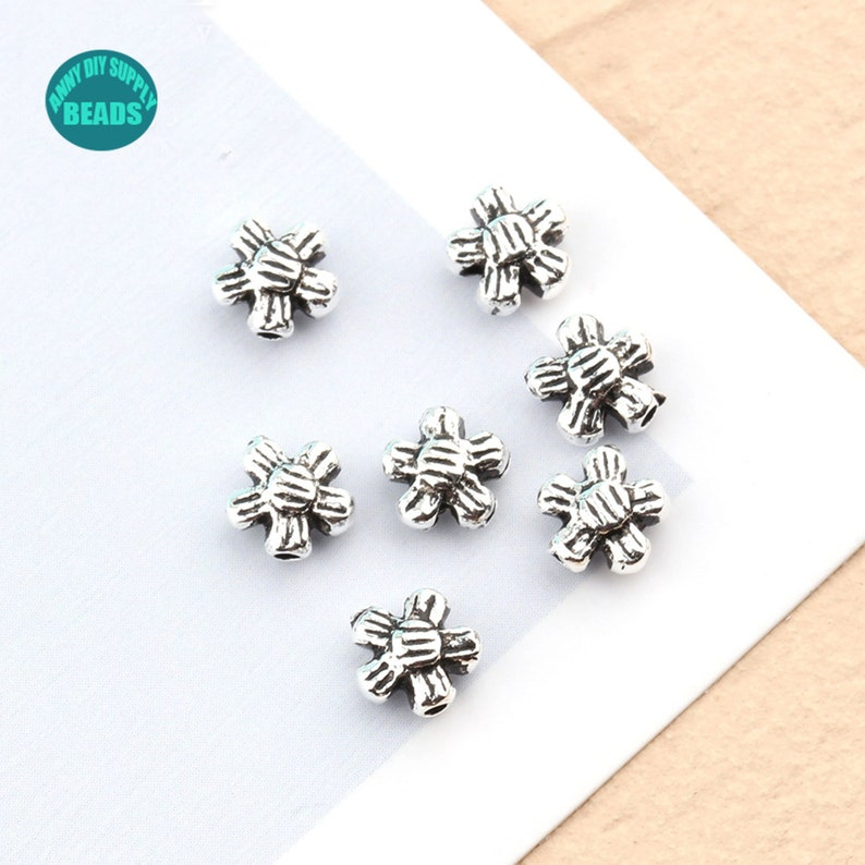 25102050PCS S925 Sterling Silver Space Beads,Flower Bead spacer,Sterling Silver Beads