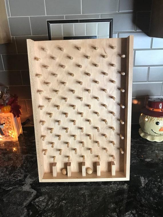 Tabletop Plinko Board Drinko Game Customized Wooden Plinko Game Board