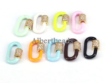 Rainbow Enamel star Screw Clasps Star hoop clasp Connector Clasp jewelry . 5 Pcs Clasp charms Star Screw Clasp Lock Carabiner