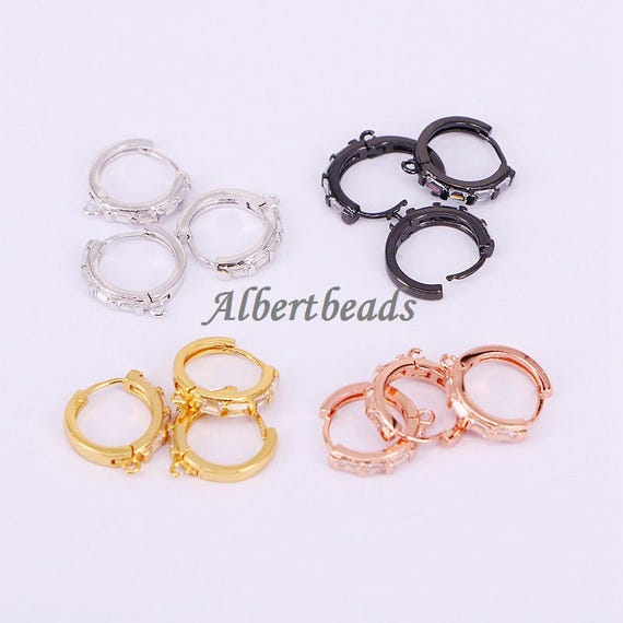A184-9059 New Fashion DIY Finding for Earrings Micro Inlay CZ  65bdfc2fa4f4