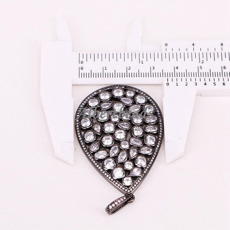 necklace accessories For women 5PCS CZ zircon pave crystal water drop Pendant AZYZ302-6821 Pave CZ Diamond Charm Pendant