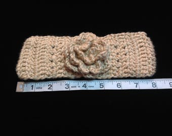 "Crochet Headband Fits Kids and Teen - Size approxiamtely 17""-19"""