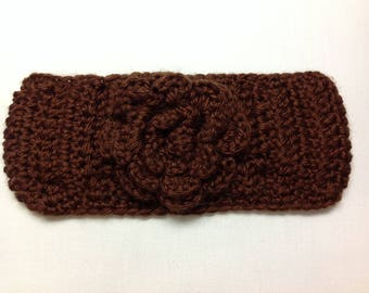 "Crochet Headband Fits Kids and Teen - Size approxiamtely 16""-18 1/2"""