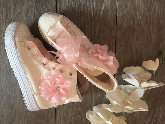Cozy Reception Shoes Flower Girl Pink Shoes First Communion Etsy
