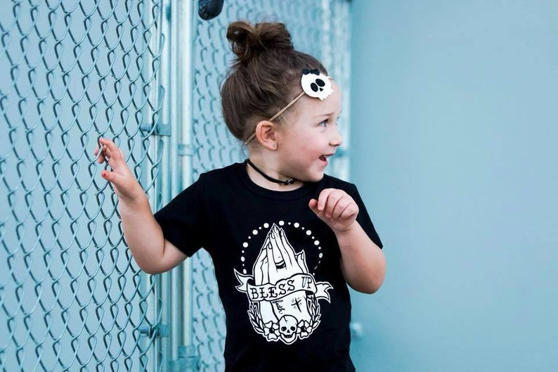 525a46c70ef2 Bless Up Kids Tee Blessed Shirt Punk Baby Clothes Toddler