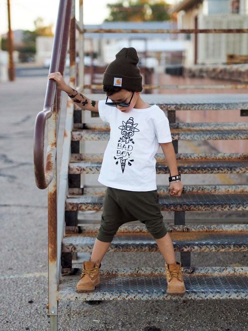 6a5e0e4a6706 Bad Boy Kids Tee Edgy Toddler Clothes Trendy Kids Clothing