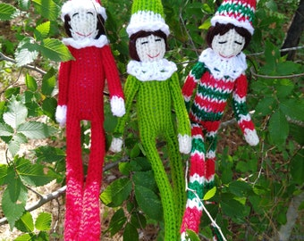Loom Knitting  Elf on the Shelf inspired PATTERN - Christmas Toy - Instant Download, PDF Pattern