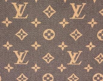 Louis Vuitton Fabric Etsy