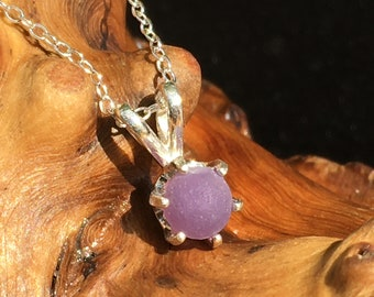Grape Agate Pendant Raw Stone Pendant Purple Chalcedony Grape Agate Crystal Cluster in Sterling Silver Wire Wrap Raw Crystal Necklace