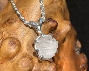 Burmese PHENACITE Pendant Sterling Silver Natural Raw BURMESE Phenakite Crystal