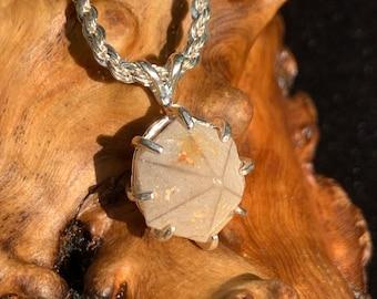 Beta Quartz Pendant Sterling Silver Dowsing Divination Pendulum
