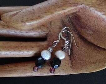 Dainty hand beaded earrings