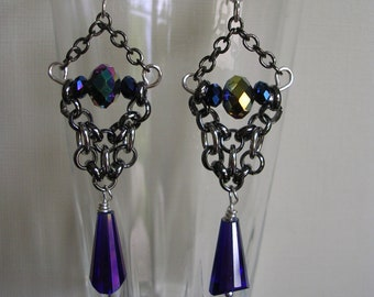 Artemis chain maille earring
