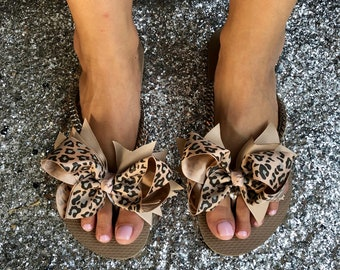 Rose Gold Decorated Havaianas Flip Flops Rose Gold Curb