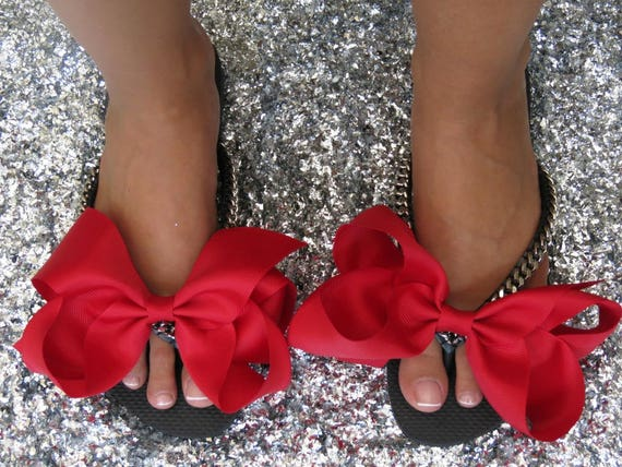 Flops Shoes Shoes bridesmaid Shoes Red Silver Flops Bridal Flip Gift Bridal Shower Flip Flat Flip Silver Women's Flops Wedding Bridal 1qOEx8xwS