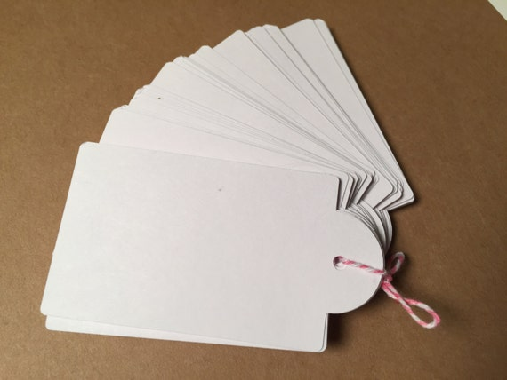 Round Tag Hang Tags CP-1011 Blank Gift Tag Retail Tag White Blank Tags 110 lb Card Stock