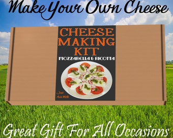 Cheese  KIT Mozzarella and Ricotta Great Gift Present Contains Vegetarian Rennet Thermometer Not Included