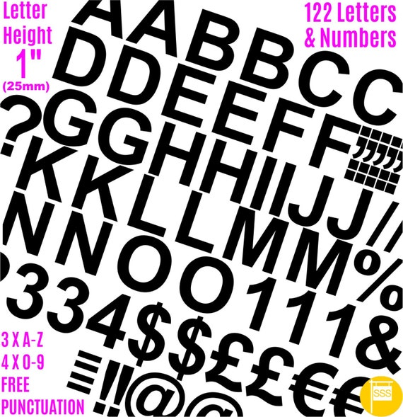 Extra Large Self Adhesive Vinyl Letters Numbers Stickers Lettering Sign-writing