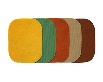 PATCHES  IN STUNNING COLORS WOOL /& COTTON FABRICS *NEW* TODDLER OVAL ELBOW