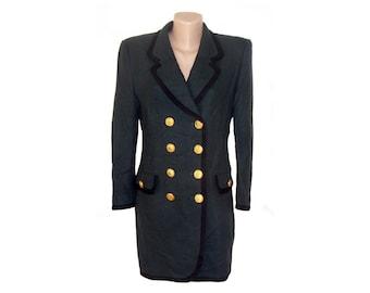 054edf92993827 Jahrgang Rena Lange Frauen Blazer Jacke grün Metall Knöpfe Lorz ULM  hergestellt in Italien der 80er Jahre hergestellt in West-Deutschland