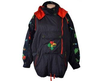 Vintage HEAD Sport Wear High Bavarian ski snow jacket hooded hunter  embroidery Made in Austria 1560d89e6