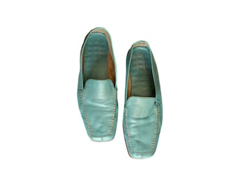 25879d527d70a Vintage AeroSoles women shoes blue genuine leather Aero Soles real leather