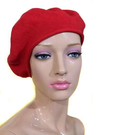 9dc293c162e45 Vintage Women Beret / French Hat / French Beret Hat / Red Cap