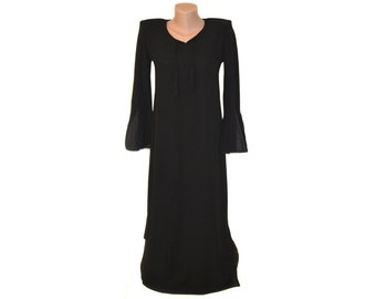 Vintage Sheyaka ® women black long dress