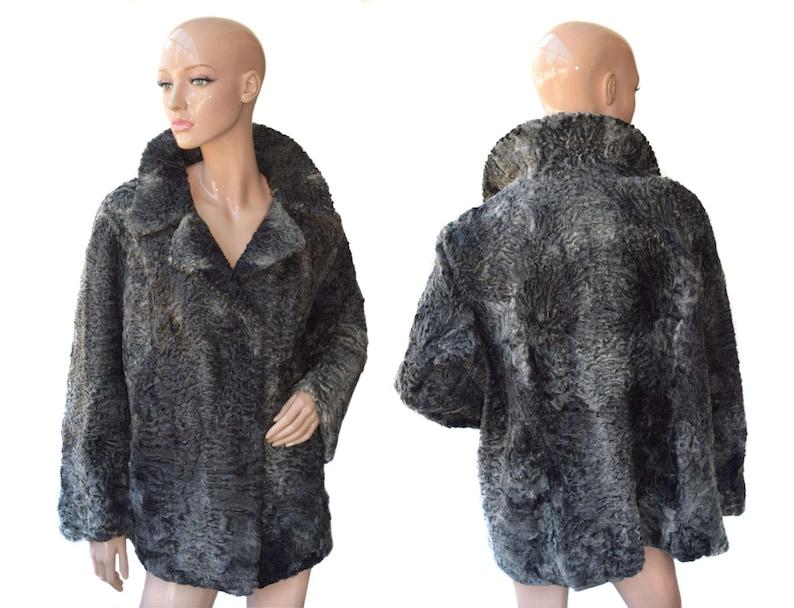 Vintage Classic Keska donne cappotto astrakan di pelliccia  ae15e5138a1