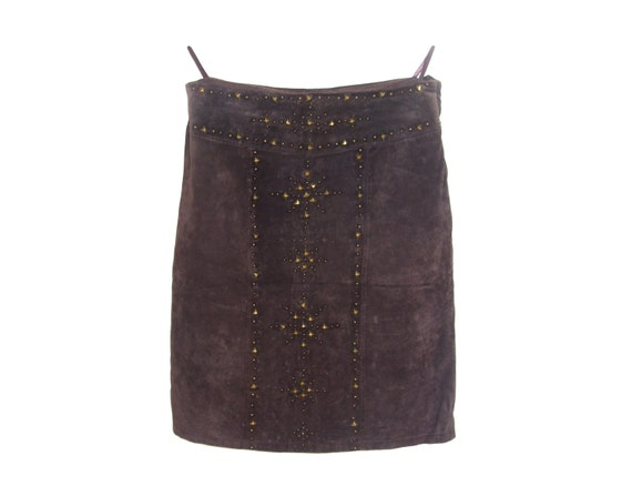 Skirt Yessica Brown C Genuine Leather Women Etsy amp;a Suede At Vintage 1Xq4AZR1