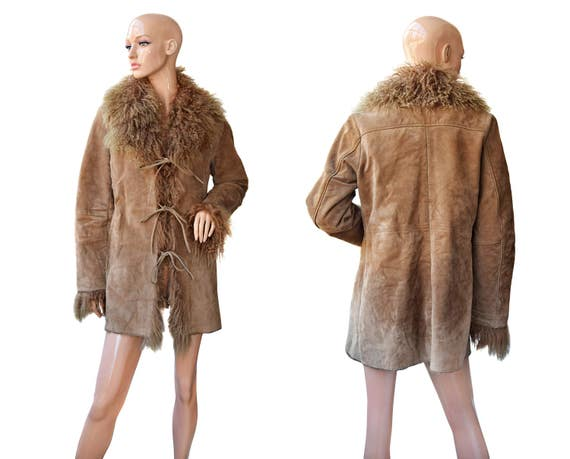 Vintage fur / Women coat / Fur coat / Brown fur /