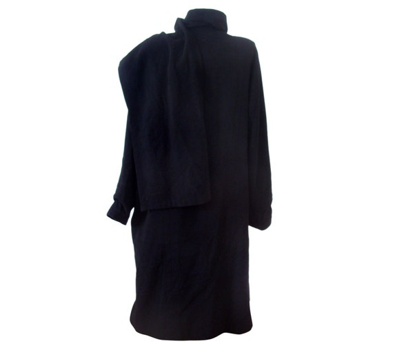 Colette wool Kaiser Wolfgang with black long and cashmere scarf Vintage coat women 1cq7w1dC