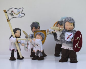 Goldigkind flexible dolls - knights and squires