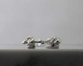 Vakkancs Pug earrings (solid stering silver)