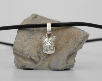 Vakkancs English Bulldog pendant (solid sterling silver)