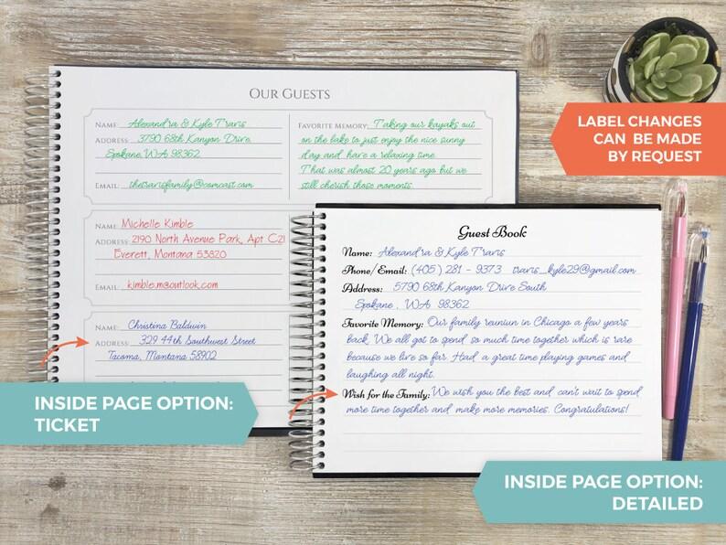 Custom Guest Book Photo Guest Book Wedding Guest Book Wedding Registry Book Wedding Guestbook Personalized Guest Book Gold Confetti
