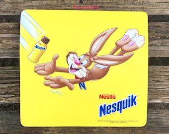 Nestle Nesquik Mouse Pad with Bunny Rabbit   Office Computer Desk Work Chocolate Milk Drink
