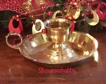 Set Of Heavy Brass Gold Candlesticks Set Of Two Brass Etsy