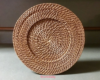 Plate Chargers Sweetgrass Thick & Sturdy Plate Holders / Holder for Plates / Charger Mats PlateMat Place Mat Basket Wicker Weave Woven