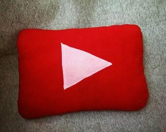 7da285335e9e75 Pillow youtube handmade soft fleece red social media pillow nternet  giftpillows