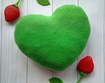 Heart mini pillow fleece
